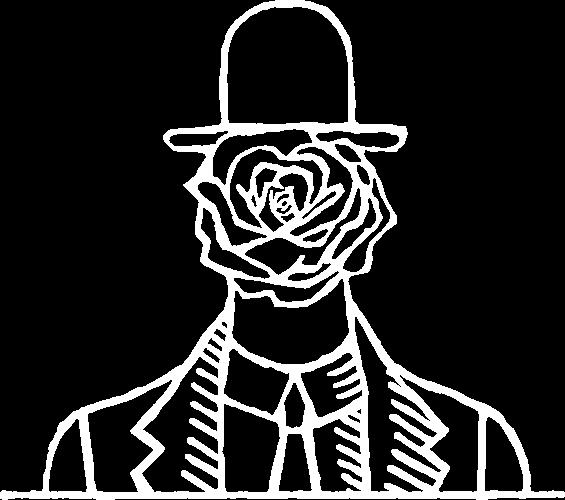 logo monsieur fleur white