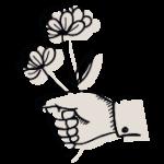 icone client monsieur fleur black