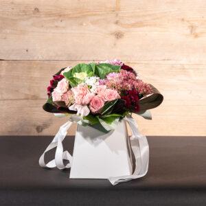 Aquarium floral photo vase